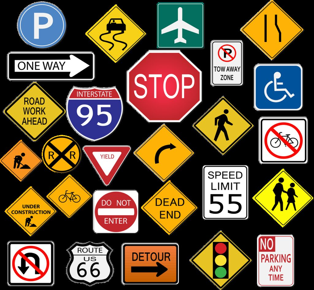 street signs, stop, highway sign